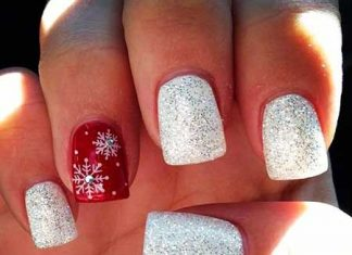 Christmas Nail Designs Red And White