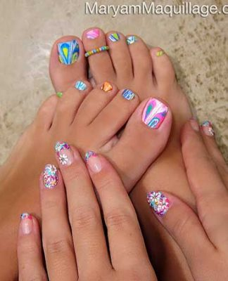 Home nail art designs 2017 for How to design toenails at home