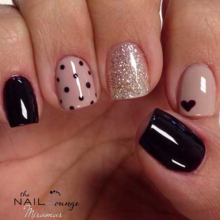 15 easy cute polka dot nail designs nail art designs 2017 polka dot nail designs prinsesfo Gallery
