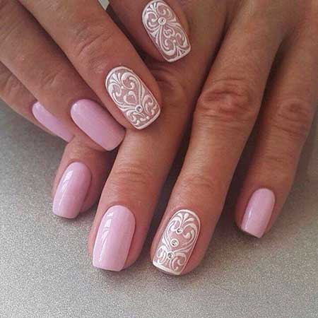 1 Pink Gorgeous Wedding Nail Art Ideas 2017041144