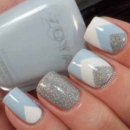 Spring Gray Nails