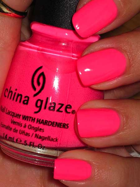 China Glaze Hot Pink