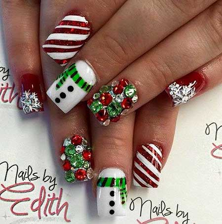Christmas nail designs red and white nail art designs 2017 christmas christmas nail designs 12 prinsesfo Choice Image