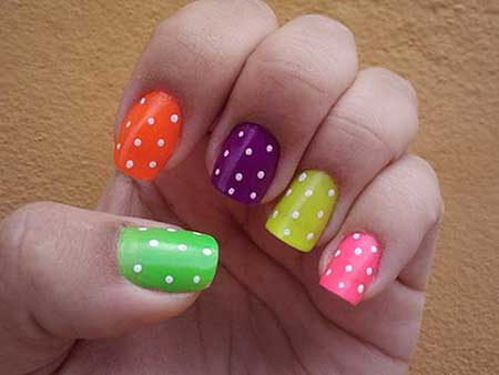 Cute easy nail designs for spring nail art designs 2017 14 different colored nails sciox Images