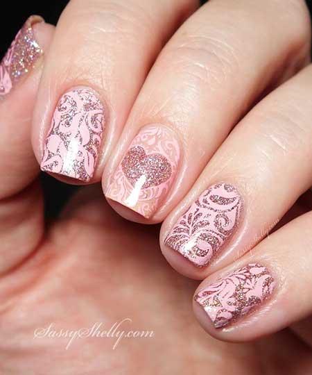 Pink Wedding Nail Art Ideas - 12