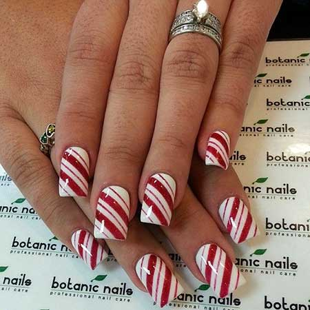 Christmas nail designs red and white nail art designs 2017 13 candy cane christmas design for nails prinsesfo Gallery