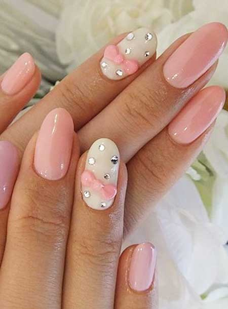 Nails Pink And White