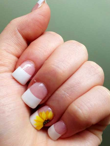 15 cute simple spring nail designs 15 spring french nail designs prinsesfo Gallery