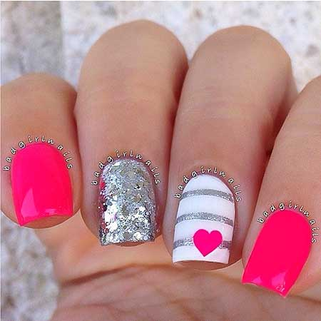 Nail designs for short nails 2017 summer best nail ideas 26 best hot pink summer nail art 2017 designs prinsesfo Choice Image