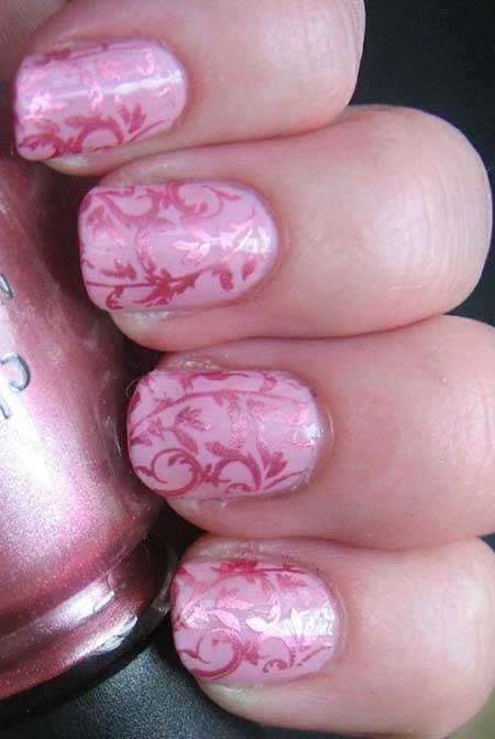 Pink Wedding Nail Art Ideas - 16