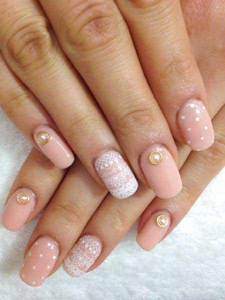 Pink Wedding Nail Art Ideas - 18