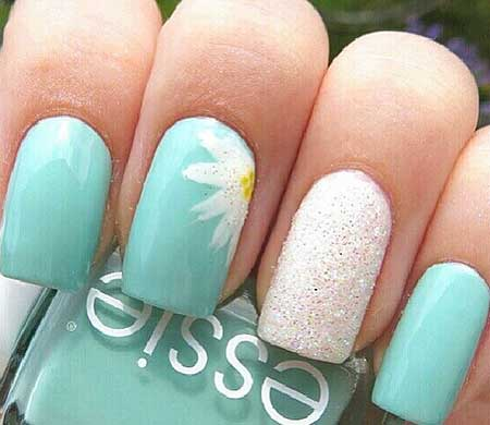 19- Cute Summer Nail Designs - 22 Unique Summer Sparkle Nail Designs - Nail Art Designs 2017