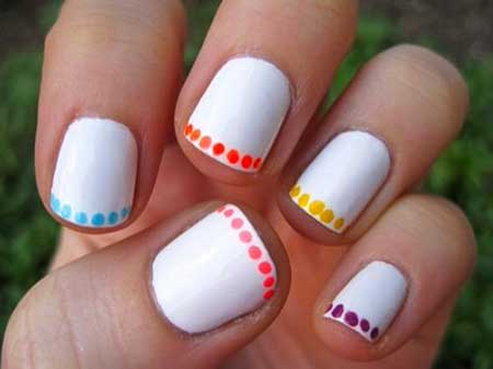 Easy Polka Dot Nail