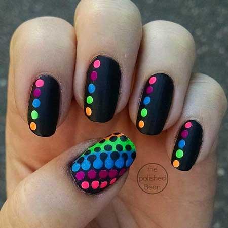 Cute Polka Dot Nail Art Design