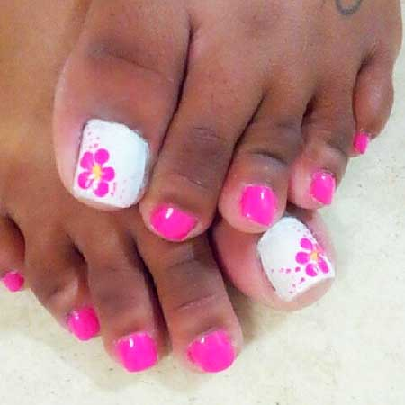 Simple Beach Toe Nail Designs