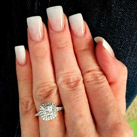 24 French Tip Acrylic Nails Square Nail Designs 2017