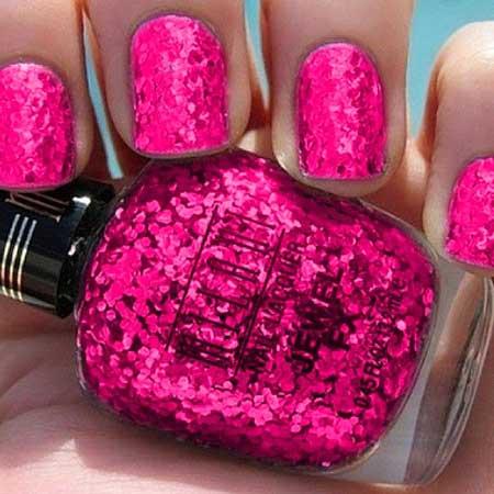 Pink Glitter Nail Polish