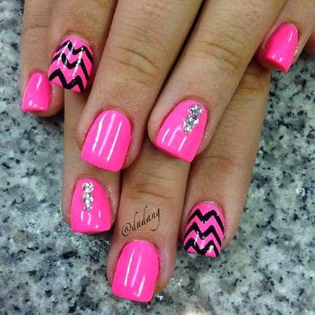 26 Best Hot Pink Summer Nail Art 2017 Nail Art Designs 2017