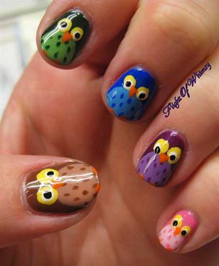 Cute Animal Nail Art Designs