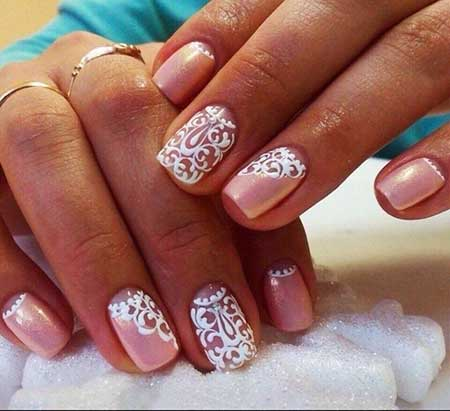 4 Pink Wedding Nail Art Ideas 2017 2017041147