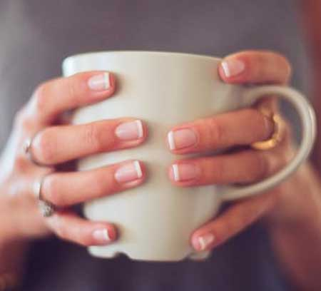 French Manicure Natural Nails