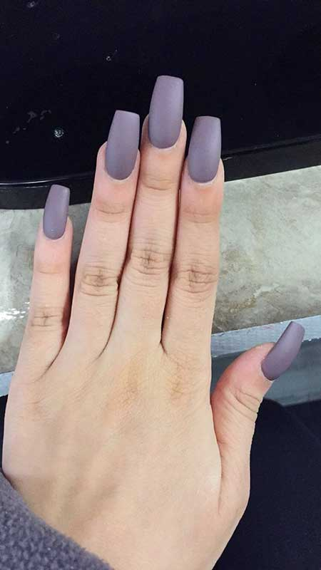 Long Matte Square Acrylic Nails