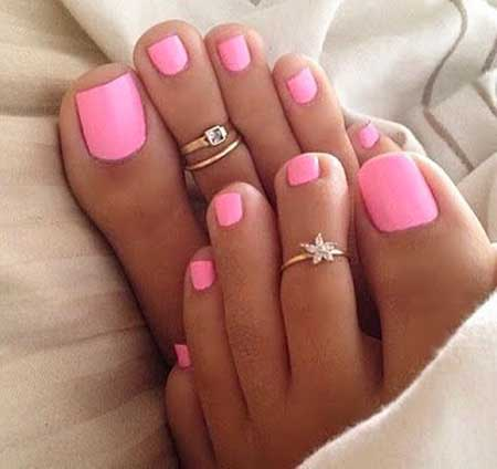 Hot Pink Toe Nail Polish