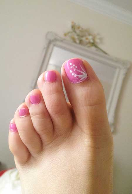 9- Spring Nail Art for Toes - Simple Pink Toe Nail Designs - Nail Art Designs 2017