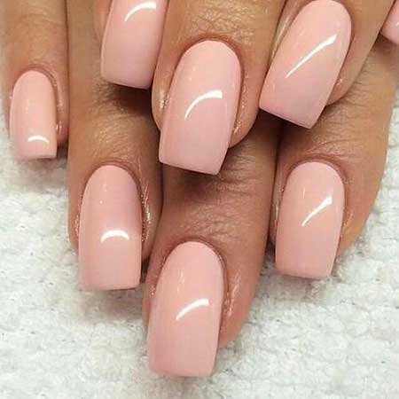 10 Short Square Gel Nails