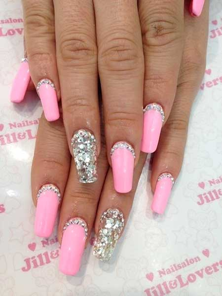 Pink Pretty Nail, Pink, S, 2017, Summer - 35 Really Chic Pink Nail Designs 2017