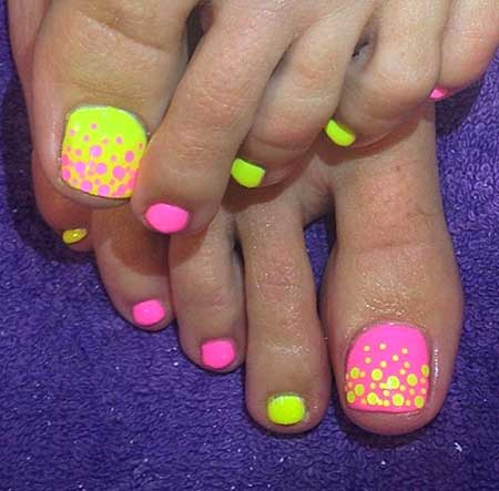Toe Nail, Summerrainbow Toe, Summer Toes, Rainbow, Toes, Toe
