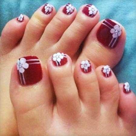 Toe Nail Art, Christmas Pedicures Toe