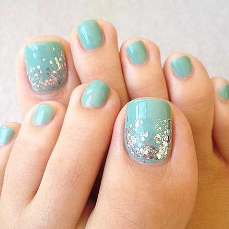 Toe Nail, Toe, Easy Nail, Glitter, Glitter Nail, Art, Easy, Toenail