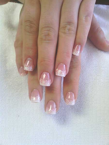 Pastel Naill, French, French Manicure, Manicures, Wedding Pretty Nai