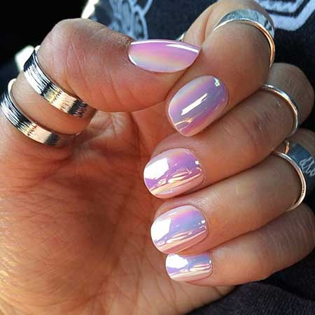S, İridescent Nail, Holographic Nail Polish, Opalmetallic Nail, Polish