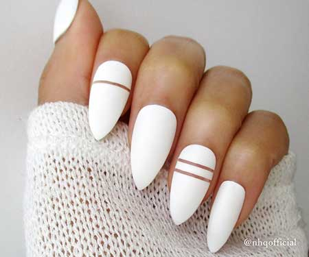 Matte White Nail Design - 75 Must-See Nail Designs 2016-2017