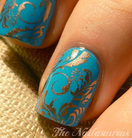 Polish, Blue, Glitter Nail, Art, Nail Polish, Glitter