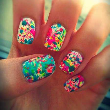 Splattersplatter, Painted Nail, Splatter Paintsplatter Paint, Short