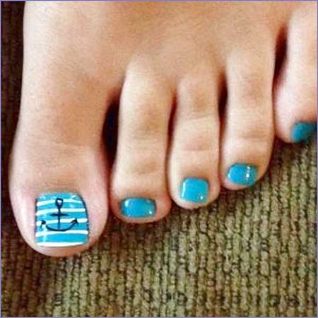 Toe Nail Art, Toe, Pedicures Anchor, Toe