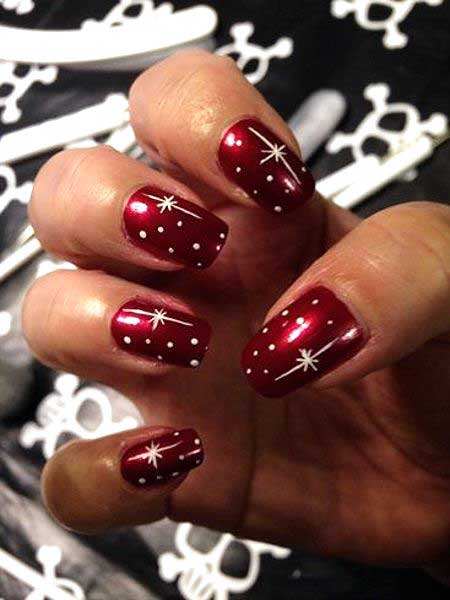 Christmas Art, Valentine Nail, Red, Heart Nail, Red Valentine, Heart, Star,