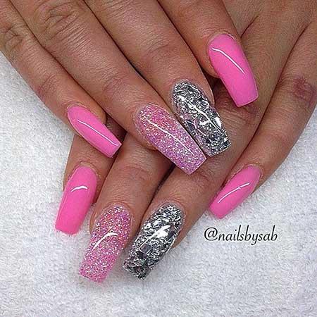 Pink Nail, Pink, Beauty Coffinstiletto Coffin, Stiletto, Idea, Beauty