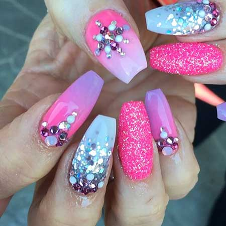 Art, Stiletto Nail, Pinkpink, Stiletto, S