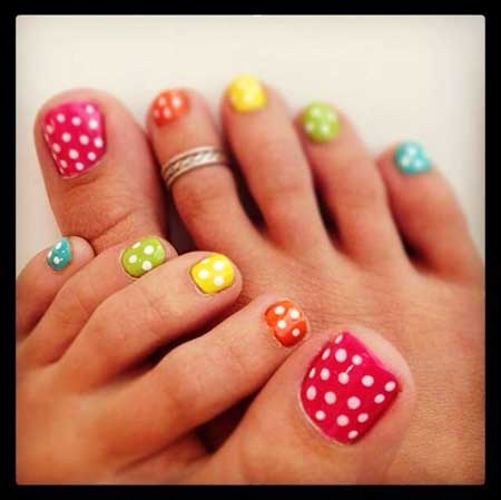 Toe Nail Toe, Polka Dots, Dot Toe, Art, Pedicures, Dot, Polka, Bling