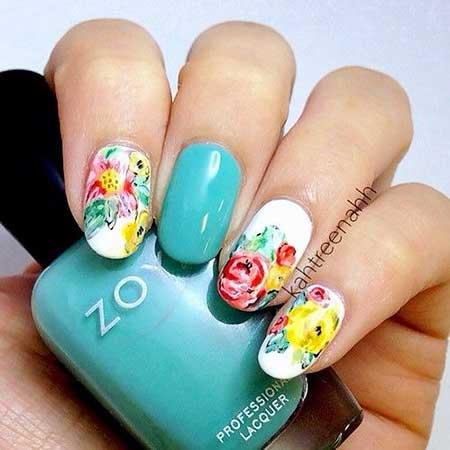 Art, Floral Nail, Flower Nail, Floral,