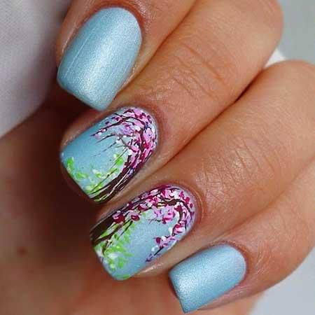 Art, Polish, Glitter, Flower Nail, Manicures, Floral