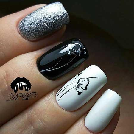 Nail, Black Nail, White Nail, Art, Nail Decals, S, White, Black, Decals, Idea, S,