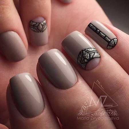 Nail, Matte Nail, Manicures, Black Nail, Art, Simple Beige, Matte, Black, Simple, Idea, S