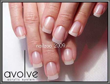 French Manicure, Acrylic French, Manicures, Nailauty French Natural