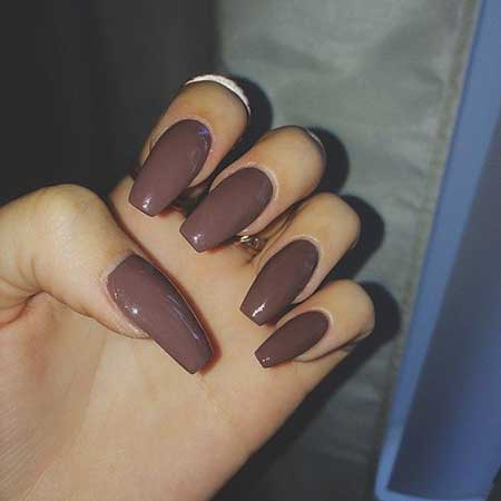 Nail Stiletto Matte Fallnail Polish Matt Fall Fashion