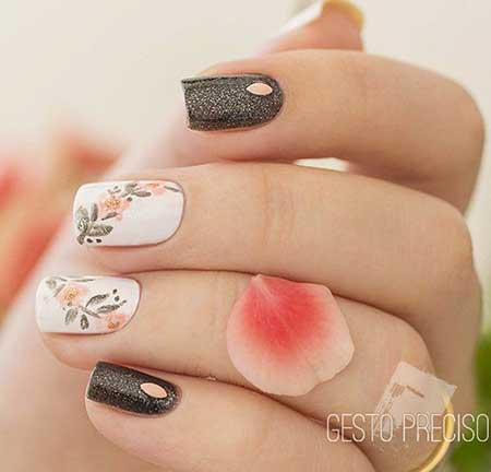 Art, Floral Nail, S, Manicures, Floral